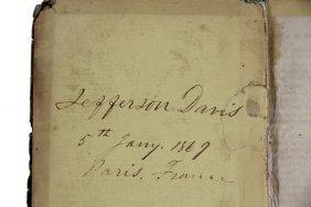 1868 Guide To Paris, Property Of Jefferson Davis - Post