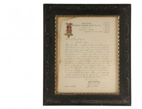 Framed G.a.r. Presentation With Medal - Grand Army Of