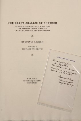"Gustavus A. Eisen (ny, 1847-1940) - Rare ""the Great"
