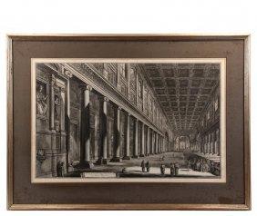 """Giovanni Battista Piranesi (italy, 1720-1778) - """"veduta"""