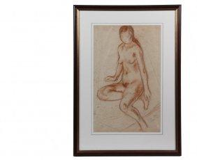 Waldo Pierce (ny/me/ma, 1884-1970) - Seated Nude