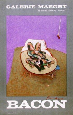 FRANCIS BACON - Original Color Lithograph Poster
