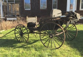 Early Horse-drawn Carriage In Original Condition