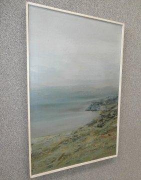Edward Bock Oil On Canvas Ocean Shore