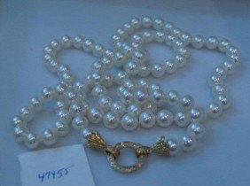 Opera Length Pearl Necklace.