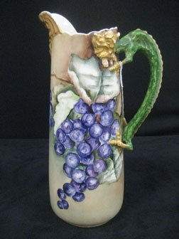 "11 3/8"" JPL Limoges Tankard With Dragon Handle."