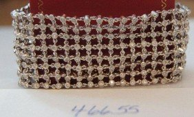 18k White Gold 7.04 Carat Diamond Bracelet.