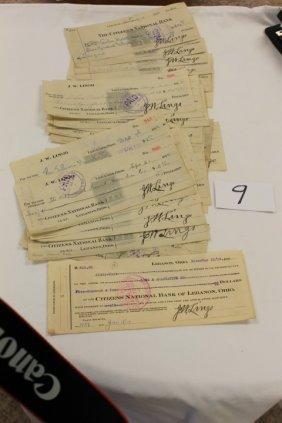 1914 (24) Checks, J.W. Lingo, Along With A Lon & All