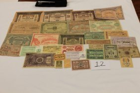 Russia Currency - 1913 - 25; 1918 - 250, 100, 50, 2