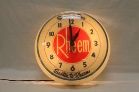 "Rheem ""switch In Time"" ""switch To Rheem"" Light-up"