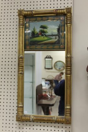 Federal Style Mirror With Half Turned Columns