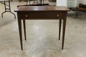 Cherry/pine Tapered Leg One Drawer Table