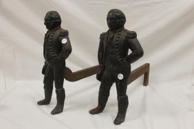 Virginia Metalcrafters George Washington Andirons With