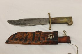 Collins & Co. Us. Wwii V-44 Legitmus No. 18 Bowie Knife