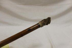"Presentation Stag Handle Cane/walking Stick, 36 1/4"""