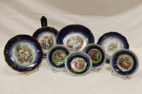 Cobalt Decorated Porcelain: Pmb Royal Bavaria China