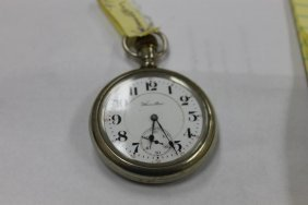 Hamilton Pocket Watch With Screw On Crystal In Crescent