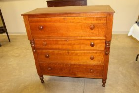 Cherry 4-drawer Chest With Dovetailed Drawers. On
