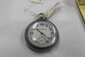 Hampden Watch Co. 16 Size Pocket Watch With Fancy