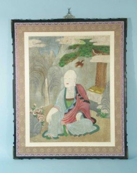 AN ANTIQUE KOREAN PAINTING OF A TAOIST IMMORTAL