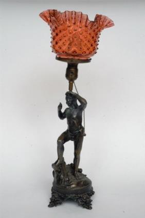 Figural Native American Lamp