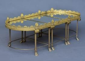 French Louis Xv Style Gilt Bronze Plateau