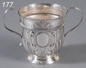 GEORGE II STERLING CAUDLE CUP Hallmarked Mary Loft