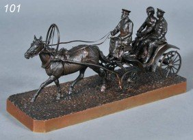"VASILY GRACHEV Carriage Ride 12"" Long, 5 5/8"" High"