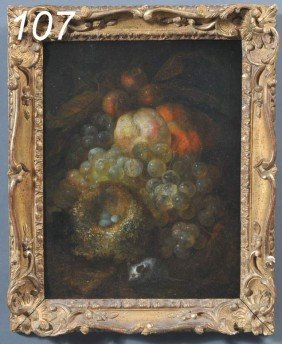 MANNER OF JAN MORTEL Still Life With Fruit And Bir