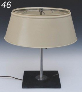 WALTER VON NESSEN TABLE LAMP With Black Iron Base A