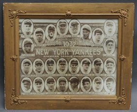 1932 New York Yankees Team Portrait