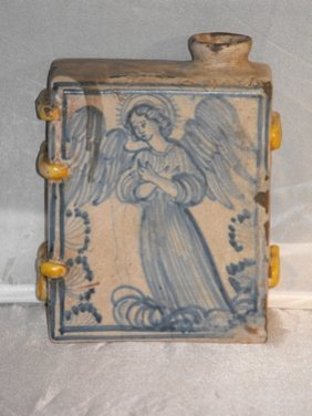 FLASK IN BOOK FORM SICILY  18TH. C.