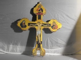 AFTER CENNI DI PEPI,WOODEN PROCESSIONAL CROSS