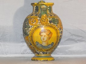 SYRUP JAR WITH FIGURE OF A WOMAN 19th. C.