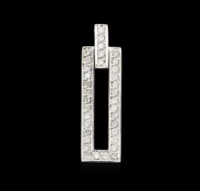 0.75 Ctw Diamond Pendant - 14KT White Gold