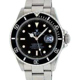 rolex watches for in online auctions mens rolex stainless steel black dial date submariner