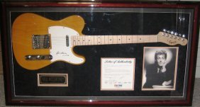 Paul McCartney Framed Signed Guitar Collage