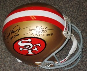 Joe Montana / Jerry Rice Signed 49ers Helmet