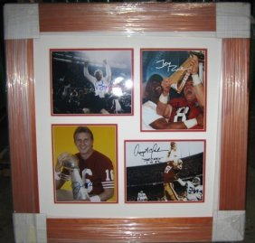 49ers Legends (5) Framed Signed Photo Collage