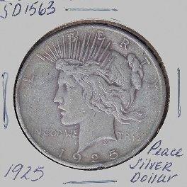 1925 Peace Silver Dollar SD1563