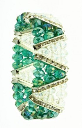 Ocean Green Crystal Bracelet CN167