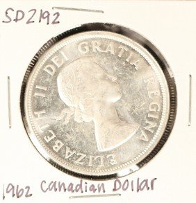 1962 Canadian Silver 'Loonie' Coin SD2192