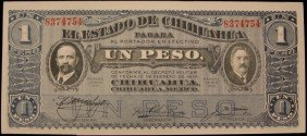 1915 Crisp Uncirculated Mexico 1 Peso Bank Note PM1931