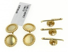 14KT Yellow Gold Tiffany And Co. Tuxedo Set GD387