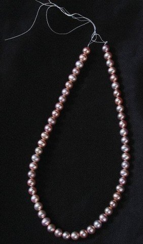 Loose Strand Cultured Dark Coral Pearls- 7.5-8mm Approx