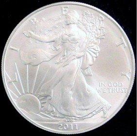 2011 American Silver Eagle Dollar GEM BU Coin MNTCN5