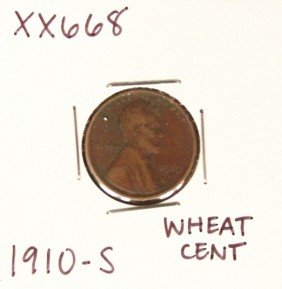 1910-S Wheat Cent XX668