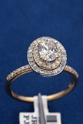 14KT Two-Tone Gold .7ct Diamond Ring J33