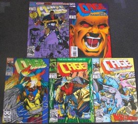 Cage - CB569 Lot Of (5) Vintage Comic Books