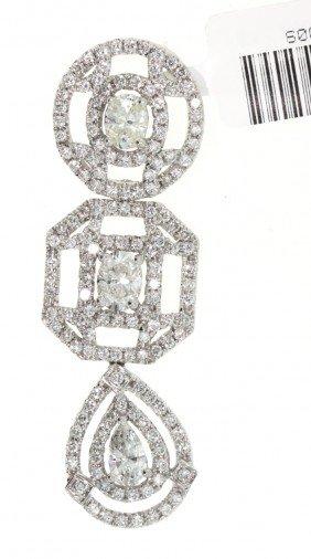 18KT White Gold 2.42ct Diamond Pendant WNK10